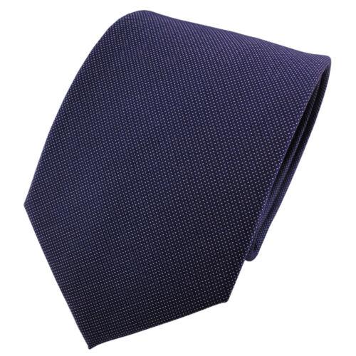 Krawatte Seide Tie Satin Seidenkrawatte blau dunkelblau silber fein gepunktet