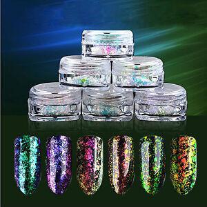 ESPEJO-Polvo-Efecto-Cromo-Manicura-pigmento-6-colores-unas-Camaleon-0-2g-G