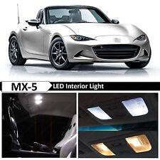 6x White Interior LED Lights Package Kit for 2009-2015 Mazda MX-5 Miata