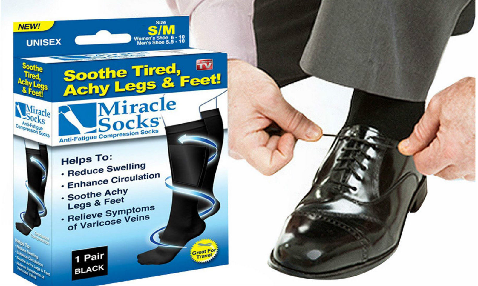 Chaussettes de contention, compression anti-fatigue  Miracle Socks Socks Socks 363185