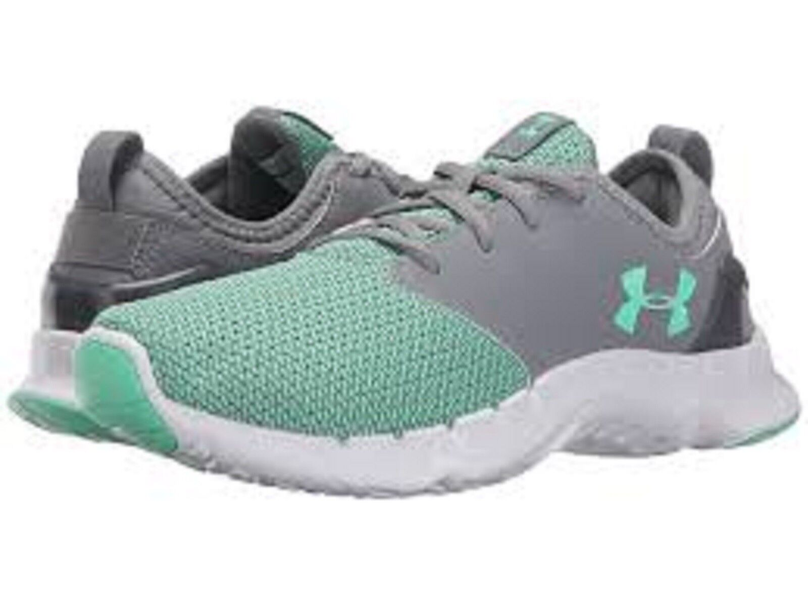 UNDER ARMOUR Ladies 'FLOW SOLID' Running Shoe-Lt Green/ gris / blanc Sz. 9 M NIB