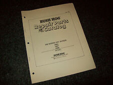 Bush Hog Repair Parts Catalog Hm5 Hm7 Hm8 Hay Mower