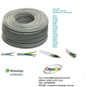 Cable-Quick-lines-fror-Tripolar-pentapolare-Wire-Various-Sizes-NPI-fror