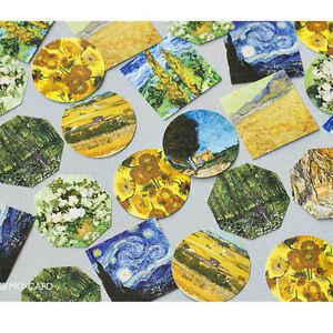 45X-Van-Gogh-Oil-Painting-Sticker-Box-Set-Scrapbooking-Deco-Gift-Label-Seal