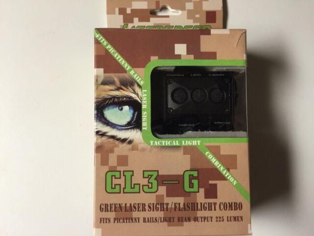 LASERSPEED Tactical LED Flashlight & Green Laser Combo - Handgun Shotgun Pistol