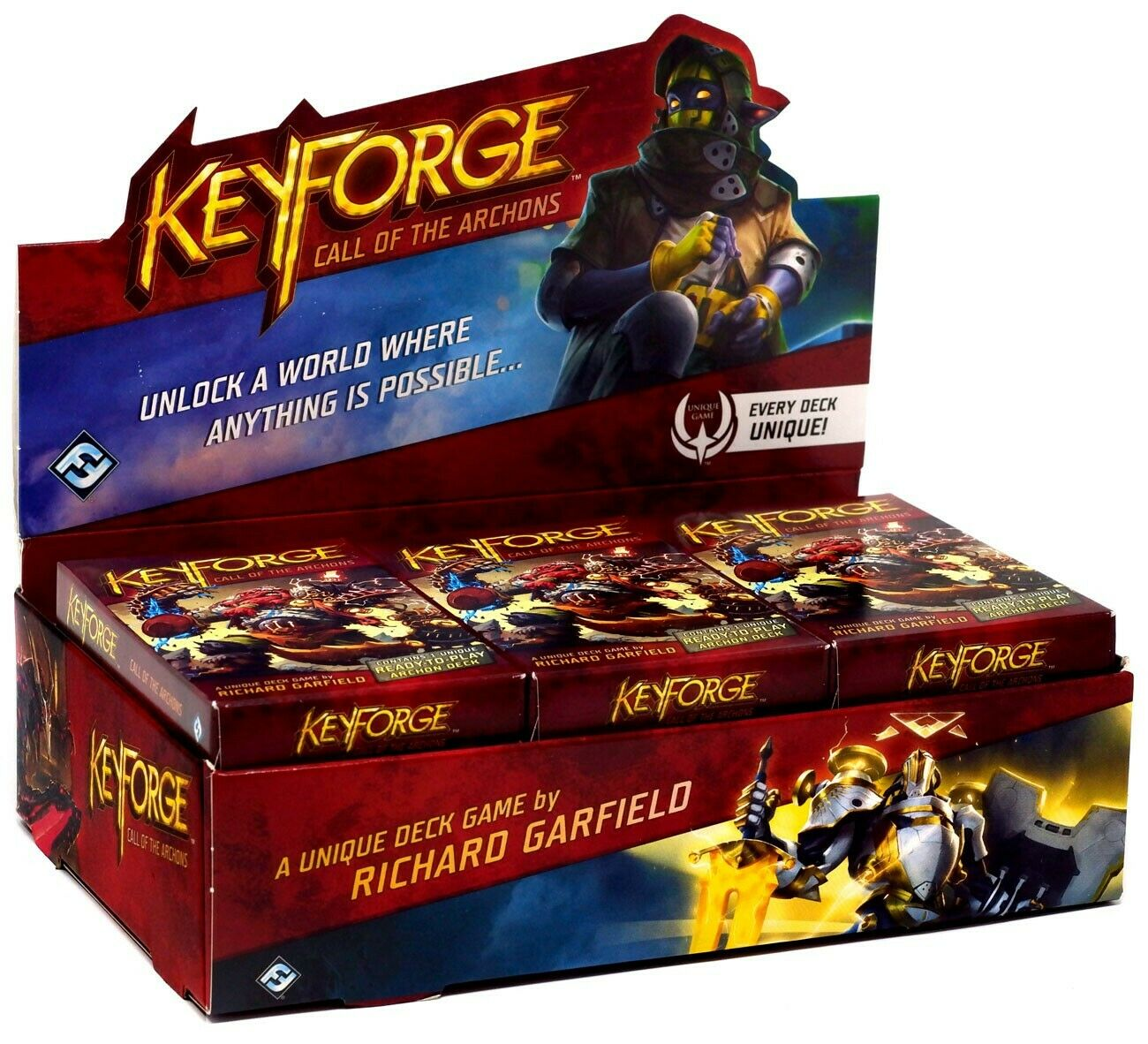 Keyforge unique Pont Jeu Call of the Archons Boîte de 12 Archon ponts KF02a