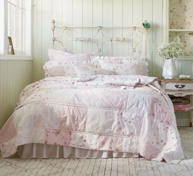 Enjoyable Rachel Ashwell Simply Shabby Chic Ditsy Pink Rose Patchwork Full Queen Quilt Download Free Architecture Designs Scobabritishbridgeorg