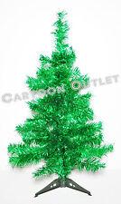 CHRISTMAS TREE 2FT CHARLIE PINE GREEN TINSEL NATURAL TONE TABLE TOP DECOR GIFT