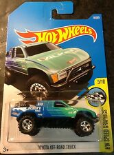 Hot Wheels 2017 CUSTOM Toyota Off Road Truck with 5 Spoke Real Riders