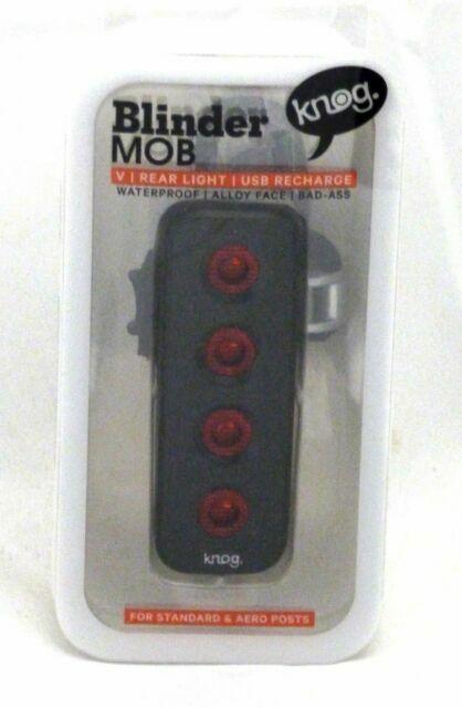 Knog Blinder Mob V The Face Bicycle Light Rear//Black