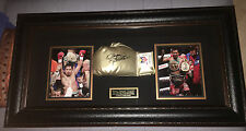 Signed Manny Pacquiao rare golden Boxing Glove Display team Pacquiao
