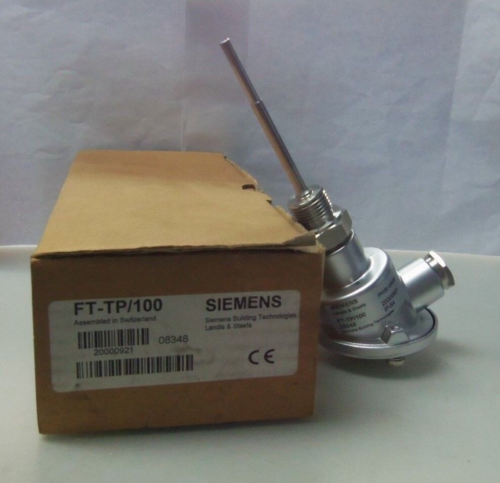 New Siemens FT-TP 100 Tauch-Temperaturfuhler Pt Immersion Temperature Sensor NIB