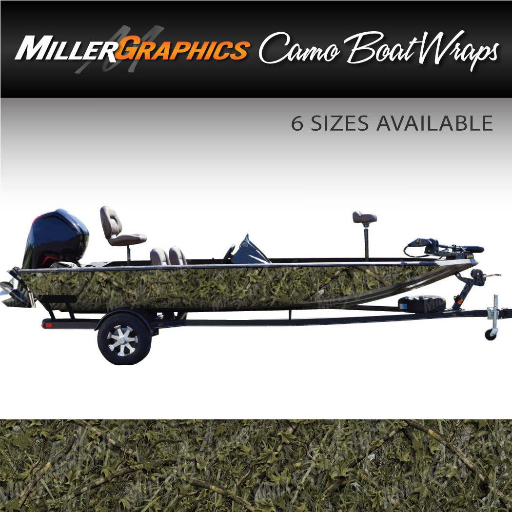 Camo Boat Wrap Kit  Marshland  3M Cast Vinyl - 6 Sizes Available