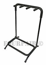3 Triple Multi Guitar Stand Holder Stage Folding Rack Bass Acoustic Electric New