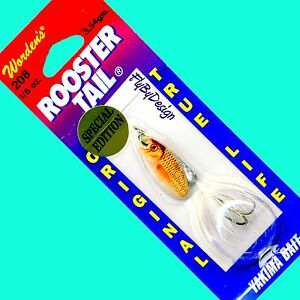 NEW-Rooster-Tail-Special-Edition-WHITE-Minnow-Spinner-with-a-True-Life-Blade