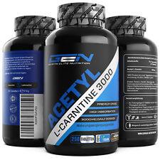 Acetyl L-Carnitine 3000 250 Tabletten Diät + Fatburner + Stärkstes L-Carnitin