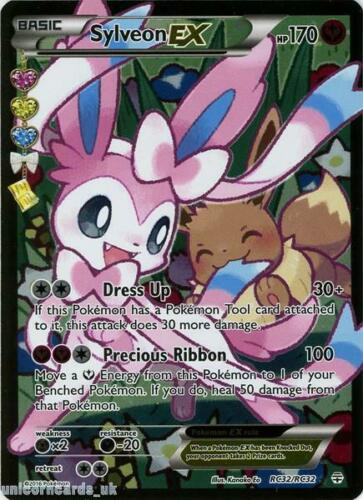 Radiant Collection RC32//RC32 Sylveon EX Rare Ultra Holo Mint Pokemon Card