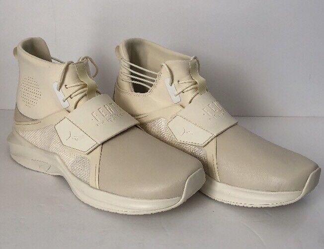 Puma Fenty Trainer Hi Sneakers Men's Size 10 Whisper White 191001 04