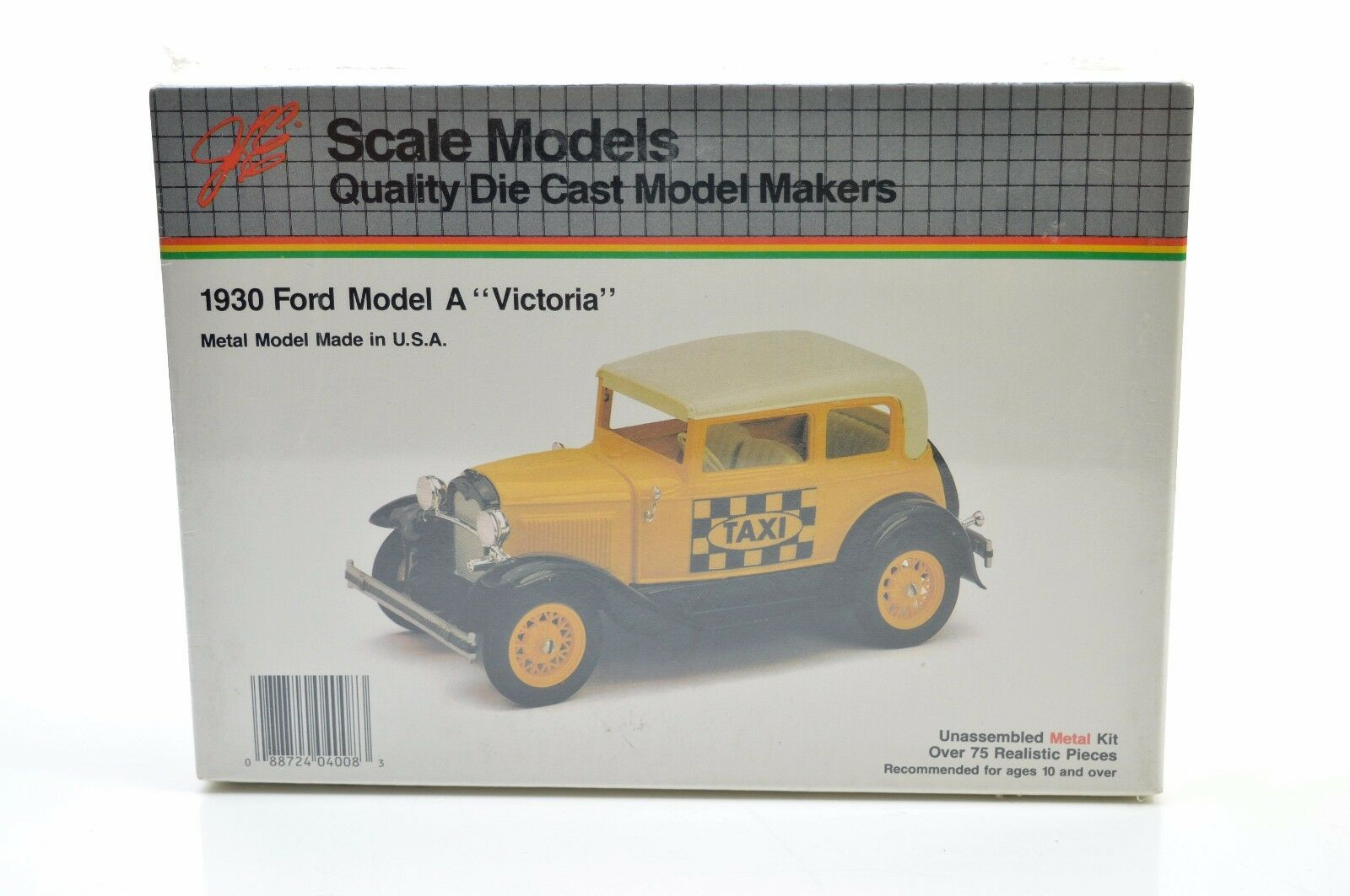 SCALE MODELS . 1930 FORD A VICTORIA TAXI