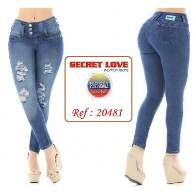 Levanta Cola,Butt Lift Jeans SECRET LOVE Jeans Colombianos,Colombian Push Up