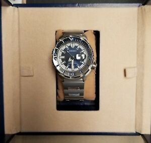 Seiko-Prospex-Monster-SRP657-Royal-Blue-Limited-Edition-Automatic-Diver-039-s-Watch