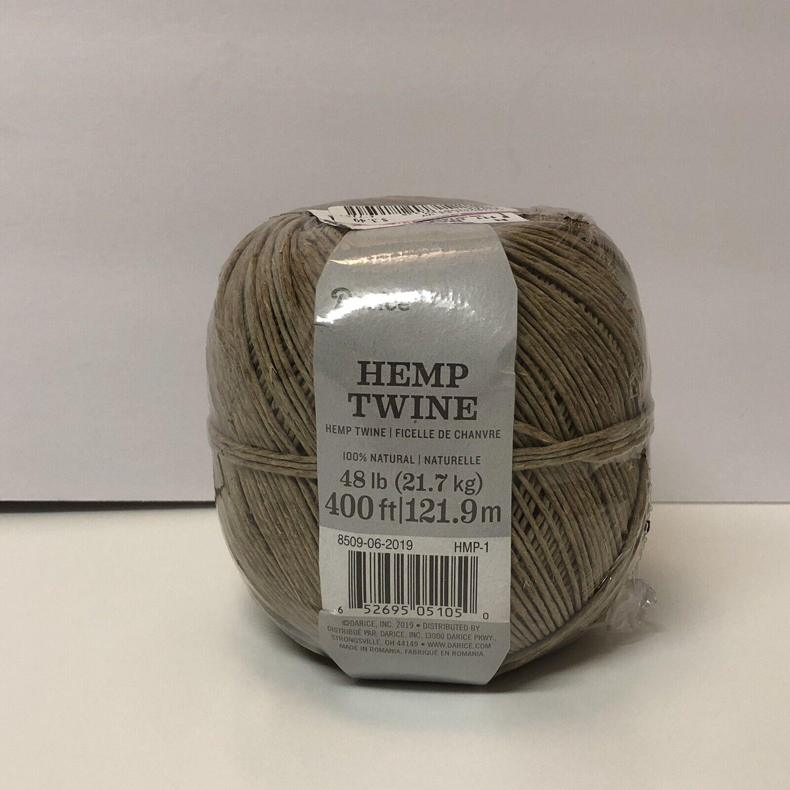Hemp Cord 48# 10 Yards//Pkg-Natural