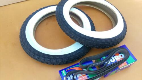 Kids *NEW* Bicycle Tires and Tubes 12 1//2x 2 1//4 White Wall Comp lll Style BMX