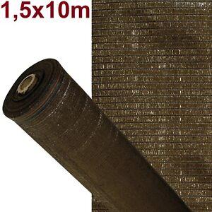 Malla de sombreo ocultación lona sombra color marrón 1,5x10m metros rejas