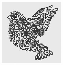 Filigree Bird Cross Stitch Kit by Florashell