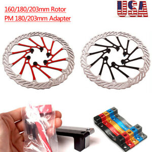 Bicycle Bike Disc Brake Rotor Cycling Front Rear Post Caliper 160//180//203 mm