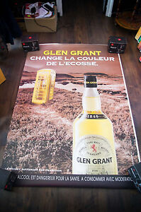 GLEN-GRANT-4x6-ft-Bus-Shelter-Original-Alcohol-Vintage-Advertising-Poster