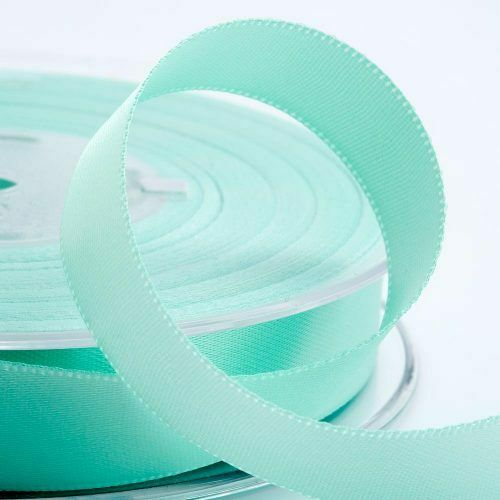 15 mm-ruban vert menthe-Personnalisé Imprimé Ruban Papier Cadeau
