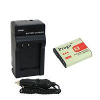 Battery + Charger For Sony Np-bg1 Fg1 Dsc-h3 H10 H7 N1