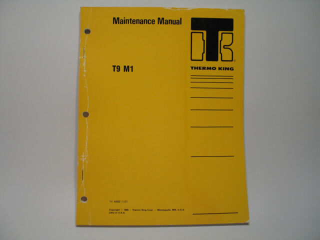 Thermo King T9 M1 Coach Bus Air Conditioning Maintenance Manual Wiring Diagrams