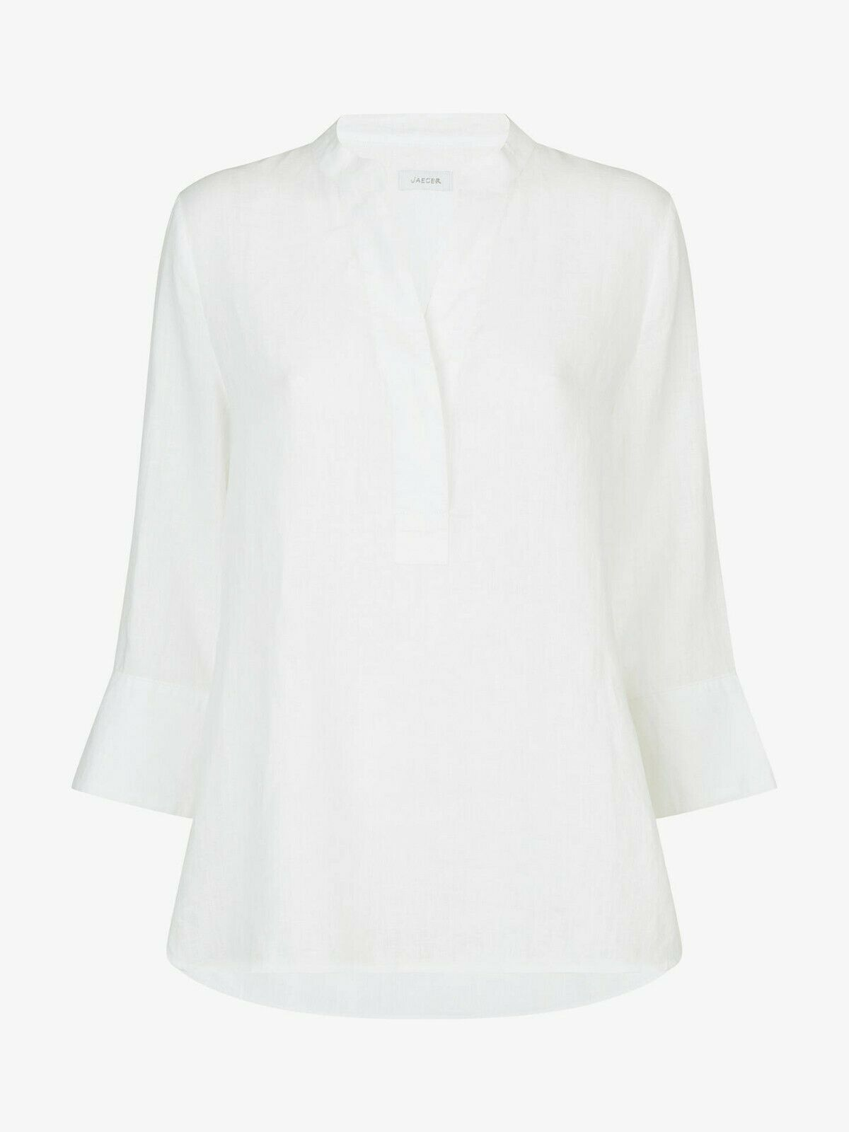 Jaeger Linen Tunic Top - Weiß - U.K. 10 - Brand New With Tags