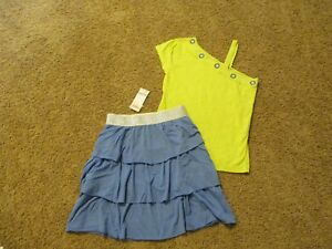 Gymboree Desert Dreams 10 12 Elephant Top Safari Oasis Blue Skirt Set 15