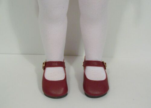 """BURGUNDY Basic LL Doll Shoes For 16/"""" Disney Animators Collection Debs"""