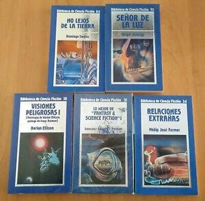 Lote 5 libros Colección Biblioteca de Ciencia Ficción ORBIS