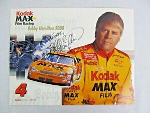 Bobby-Hamilton-Autograph-Photograph-NASCAR-Race-Driver-8-x-10-Promo-Card