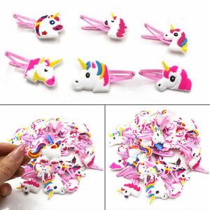 1-6-12PCS-Cartoon-Unicorn-Bow-Hairpin-Soft-Rubber-Girls-Hair-Clip-Headwear-Decor