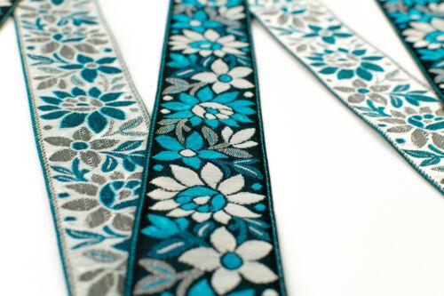 "4.20 CM Wide  Border Ribbon Sew Embroidered T167 01Yd//5Yd Jacquard Trim 1.65/"""