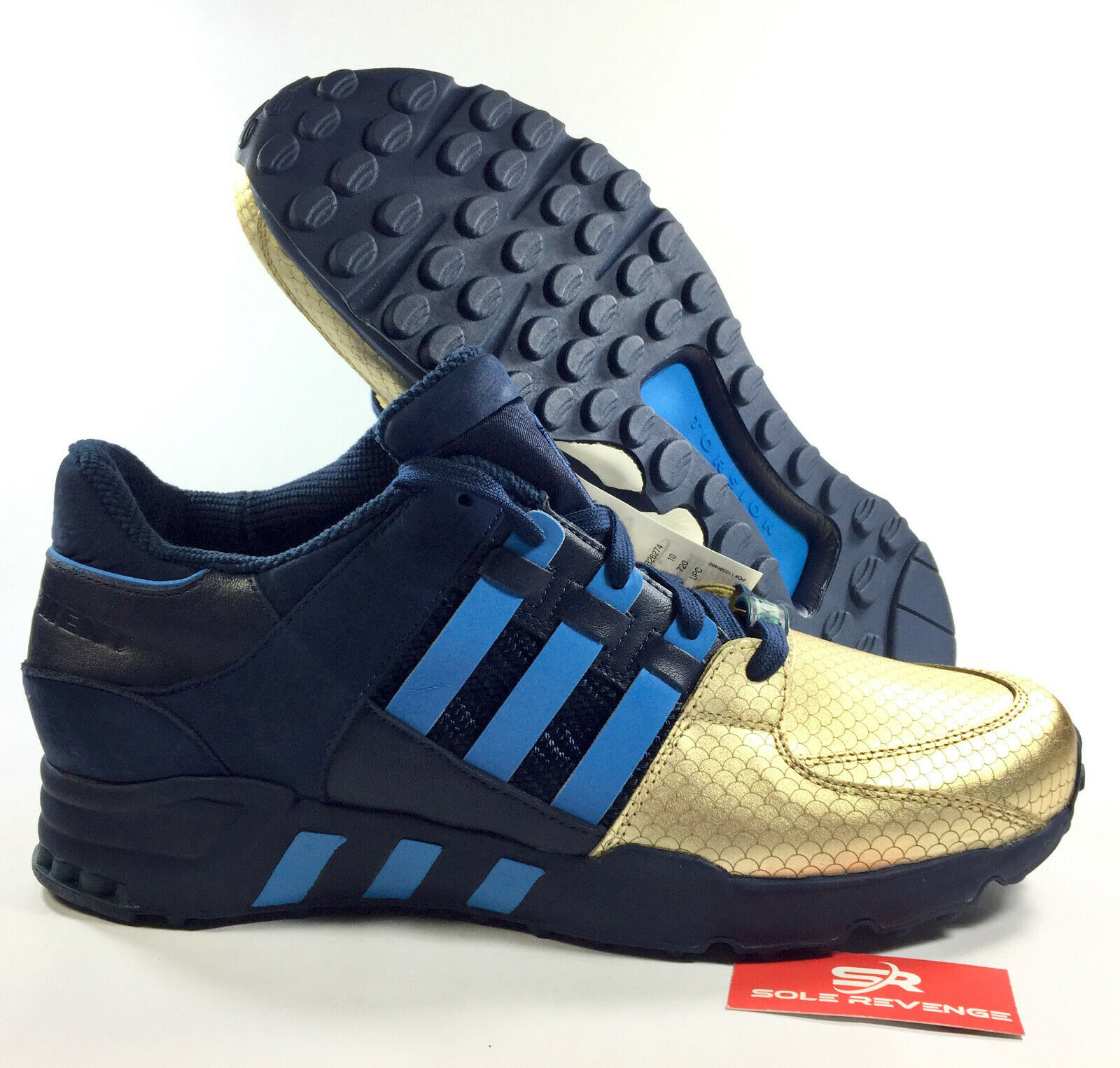 10.5 Adidas EQT Support '93 Ronnie Fieg NYC Bravest bluee gold KITH B26274