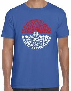 bd3115f6 Pokemon T Shirt Got To Catch Em All Pokeball Design Top Tee Men Kids ...