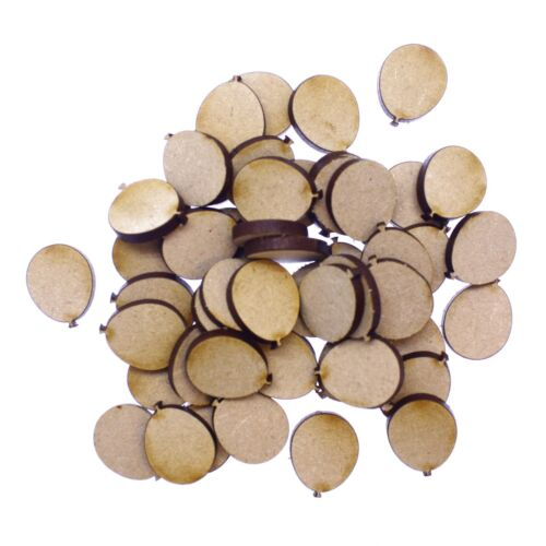 50 x Wooden Laser Cut MDF shapes Craft Blank Embellishments Balloons 20mm