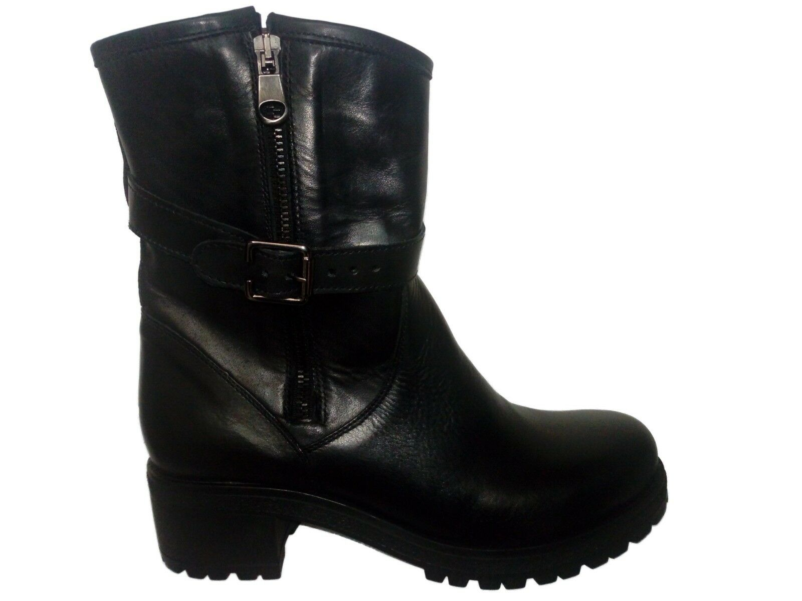 botas INVERNALI mujer ANNALOKA MADE IN IN IN ITALY in PELLE di VITELLO negro tg 36  calidad auténtica