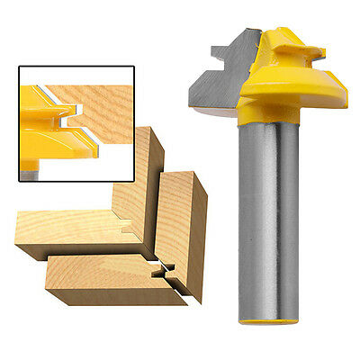 New 1/2'' Shank 45 Degree Medium Lock Stile & Rail Steel Router Cutter Bit