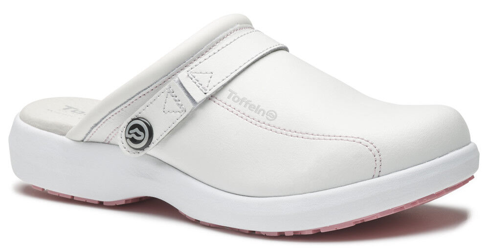 Toffeln Ultra Lite 0699 - White/Pink - Womens Work Clogs