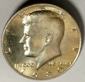1 coin of each *FREE SHIPPING* 1980 P/&D Kennedy Half Dollar