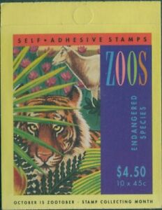 Australia-booklet-1994-SG1485-1486-45c-Zoos-MNH