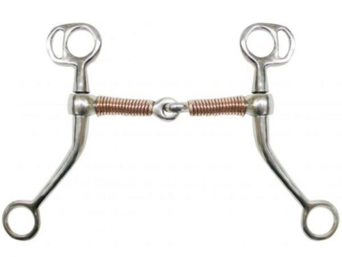 """Showman Stainless Steel Tom Thumb Bit With 5/"""" Copper Wrapped Snaffle Mouth!"""